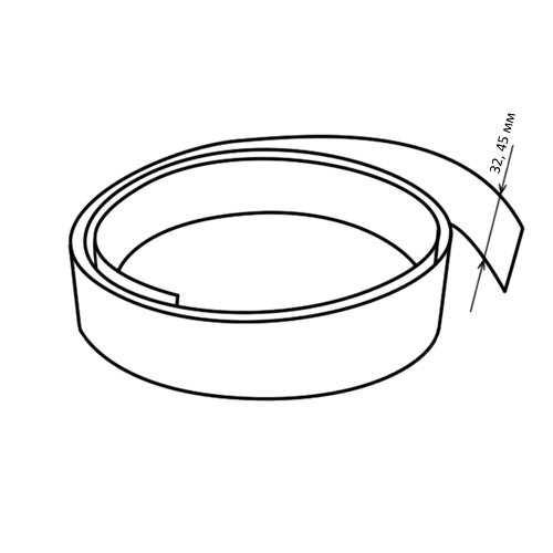 Кромочная лента без клея (вставка) 32 мм