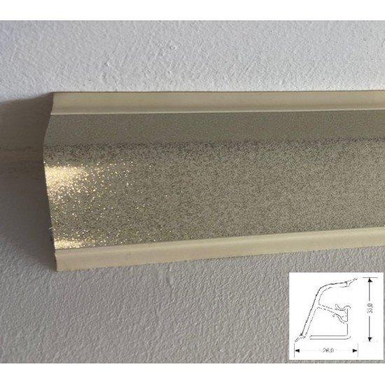 Плинтус кухонный Р-118 декор G011/1A-Галактика белая